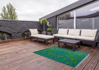 ESSCHERT DESIGN Koberec zahradní, 152x241, zeleno/modrý