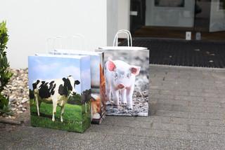 ESSCHERT DESIGN Taška papírová zvířata z farmy velká, balení obsahuje 3 kusy!