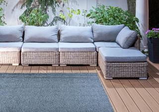 ESSCHERT DESIGN Koberec zahradní 140x200 šedý