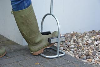 ESSCHERT DESIGN Čistič bláta na boty s kartáči a držákem, pozink