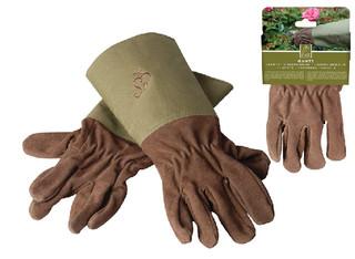 ESSCHERT DESIGN Zahradní rukavice s olivový lemem