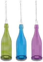 ESSCHERT DESIGN Svícen láhev na čajovku, balení obsahuje 3 kusy!