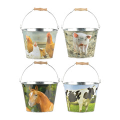 ESSCHERT DESIGN Kyblík s hospodářskými zvířaty, balení obsahuje 4 kusy!