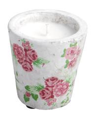 ESSCHERT DESIGN Svíčka potisk růže, M