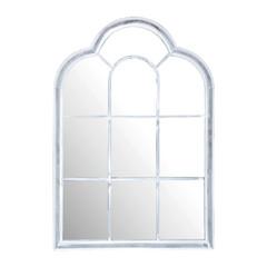 ESSCHERT DESIGN Zrcadlo románské, bílá, patina, 91x62x4 cm