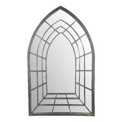 ESSCHERT DESIGN Zrcadlo s vitráží CHURCH, šedá, patina, 51x2x83 cm