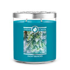 GOOSE CREEK Svíčka sojová 0,45 KG SNOWY BRANCHES, aromatická v dóze KP, 2 knoty