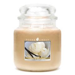 GOOSE CREEK Svíčka 0,45 KG Vanilkový lusk, aromatická ve skle (Dark Vanilla Bean)