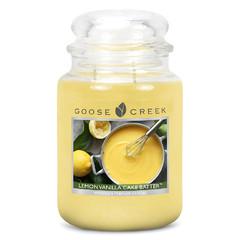 GOOSE CREEK Svíčka 0,68 KG Šlehaná vanilka s citronem, aromatická ve skl (Lemon Vanilla Cake Batter)