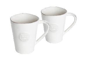 COSTA NOVA Hrnek na kávu s talířkem (dárkové bal. 2ks), bíl