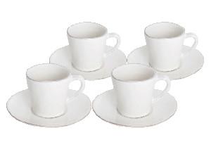 COSTA NOVA Hrnek na čaj s talířkem (dárkové bal./2ks), bílá