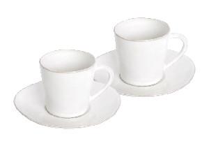 COSTA NOVA Hrnek na čaj (dárkové bal./2ks) 0,3 L, bílá