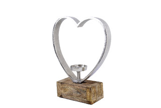 EGO DEKOR Svícen srdce, 31 x 10 x 41 cm