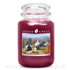 GOOSE CREEK Svíčka 0,68 KG Chladné ráno po žních, aromatická v dóze SP (Cool Harvest Morning)