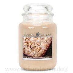 GOOSE CREEK Svíčka 0,68 KG Šlehané skořicové rolky, aromatická v dóze SP (White Icing Cinnamon Roll)